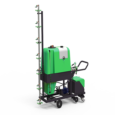 hand operated spraying machine with electric engine