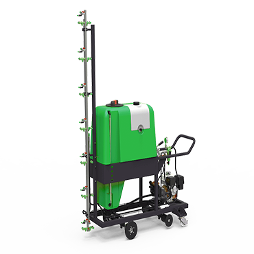 hand operated spraying machine with petrol engine